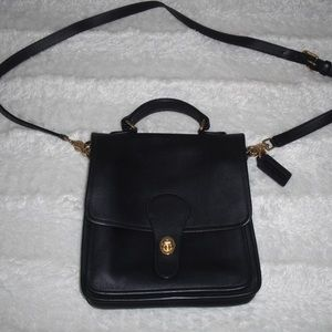Vintage Coach Crossbody Navy Leather Purse #5130